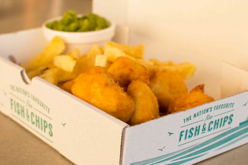 Vintage fish and chip van at tyour event
